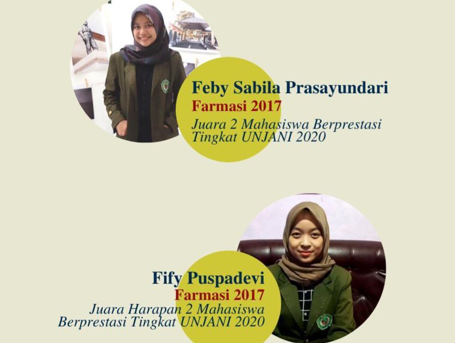 Fakultas Farmasi Memperoleh Penganugrahan Mahasiswa Berprestasi UNJANI 2020